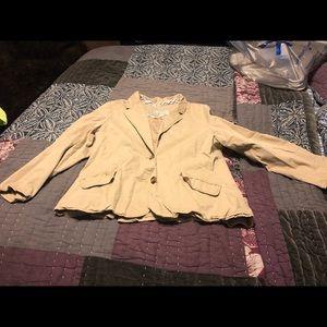 Size XL Old Navy tan (khaki) casual/dress jacket